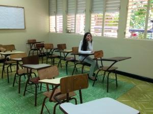 Sarita en clases