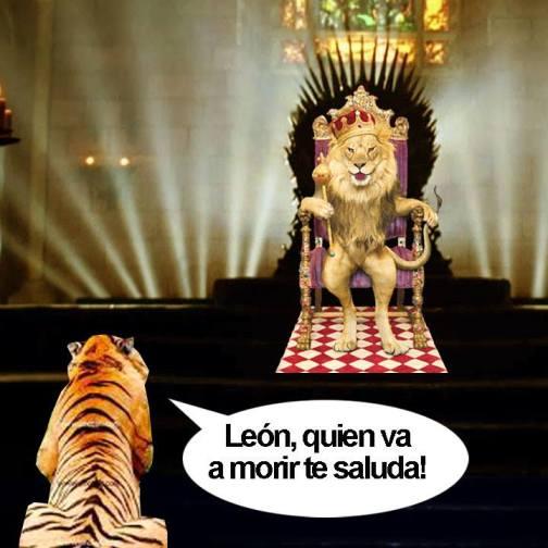 León quien va a morir te saluda