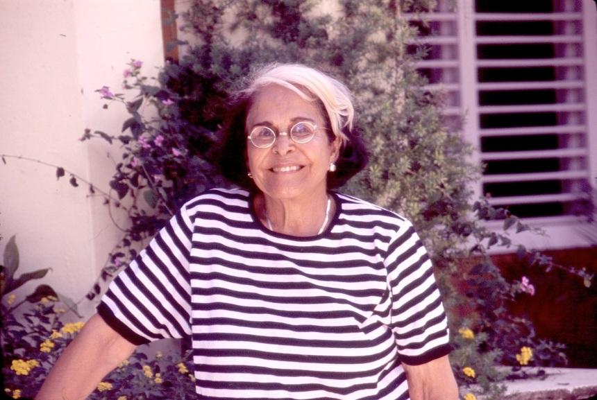 Doña Dedé en el Museo de las Hermanas Mirabal, Salcedo, República Dominicana.