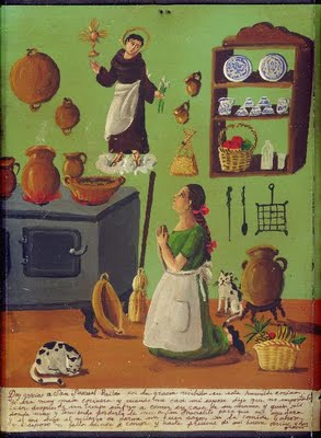 "También se le conoce como San Patrón de la Cocina: ""San Pascual Bailón, bailame en este fogón. Si tu me das la sazón yo te dedico un danzón""."