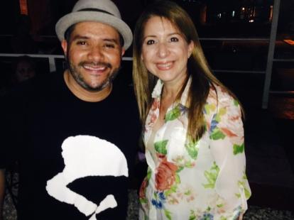 Con Pavel Núñez durante la participación de Vlieg