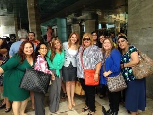 Con algunas blogueras de Hispanicize 2014