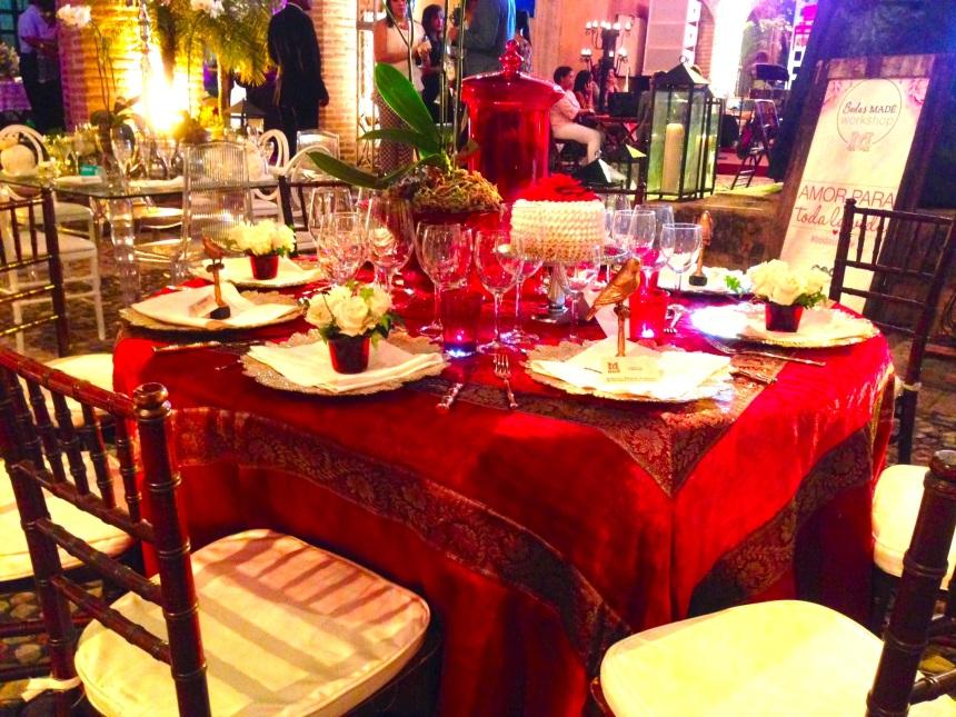 Decoración mesa de bodas