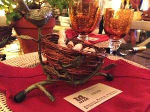 Detalle de mesa de bodas