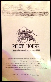 Pilot House menu