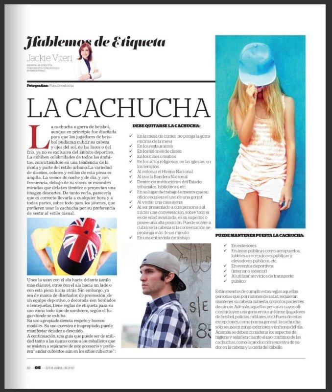 Imagen la Cachucha, En Sociedad