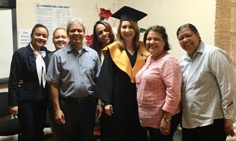 Con personal Centro Mediación Familiar, donde hice mi pasantía